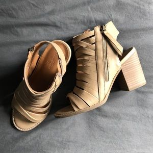 Strappy Cutout Booties